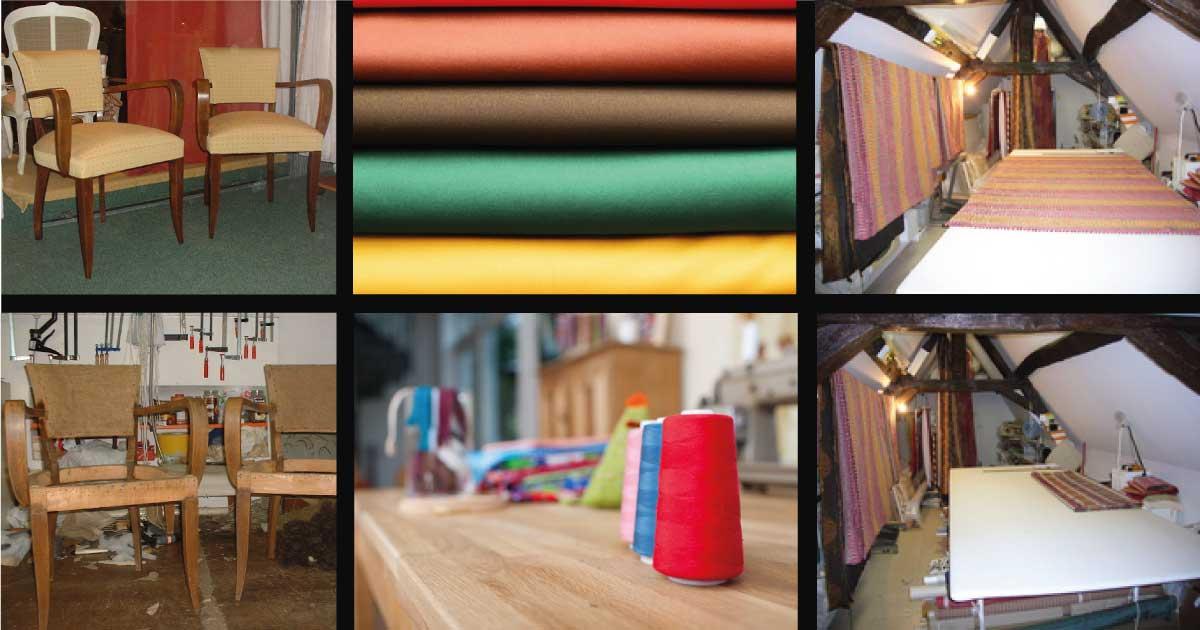 Réfections canapés et fauteuils, méridiennes. Notre savoir-faire artisanal: sangles, ressorts, crin, mousse, cannage et paillage. Restauration tous styles de sièges, l'ancien et contemporain sur Orléans.